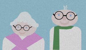Piktogramm Oma und Opa